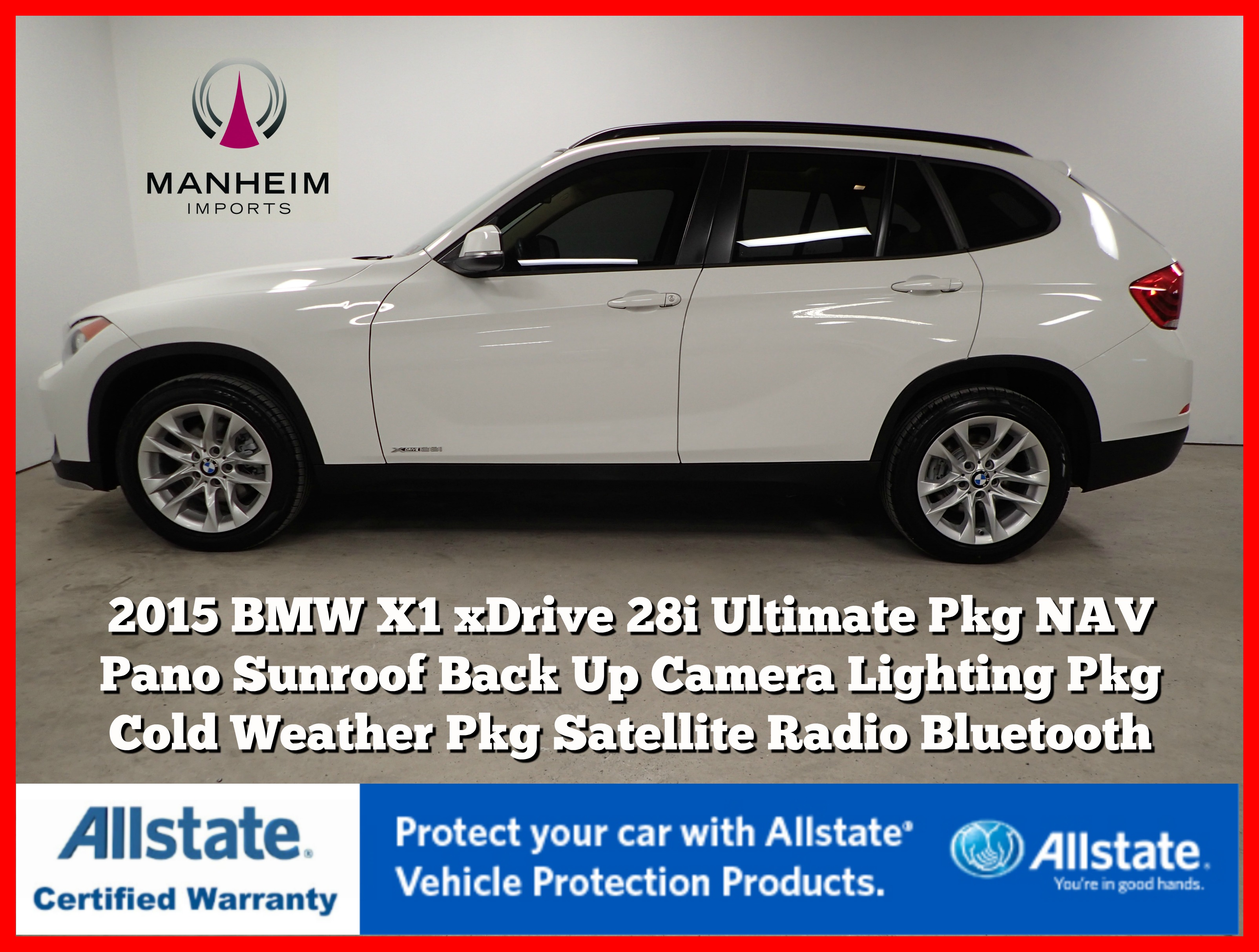Pre-Owned 2015 BMW X1 xDrive28i Ultimate Package