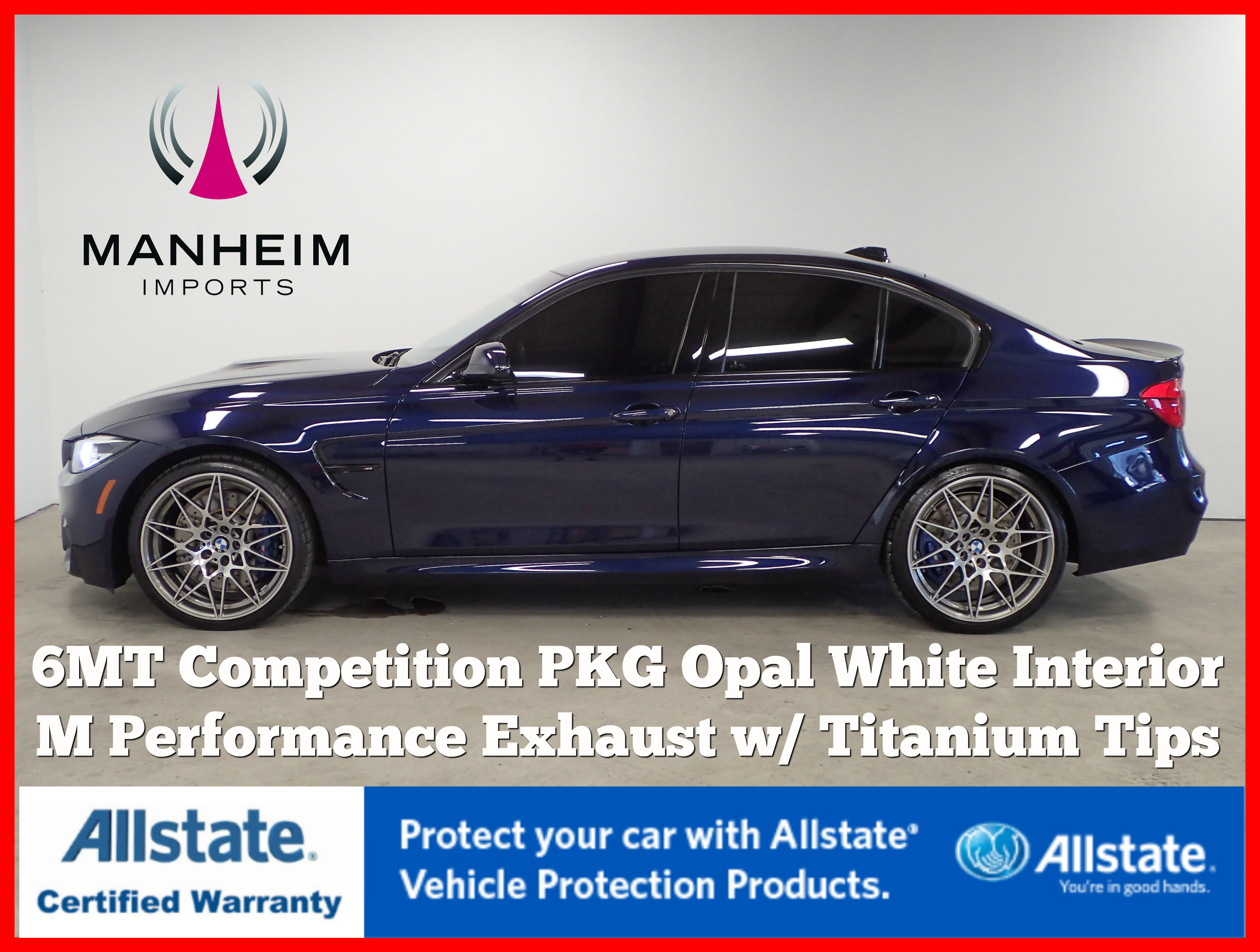 Pre-Owned 2018 BMW M3 Competition 6MT